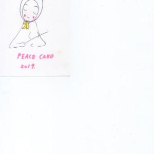 ことしのピースカード展の私のカードです。かいてみました。